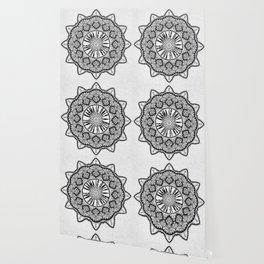 Karma is Only a B**ch if You Are - Be Nice, D***it - Mandala in Black & White Wallpaper