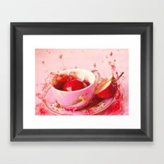Apple splash Framed Art Print