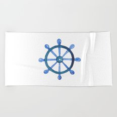 Navigating the seas Beach Towel