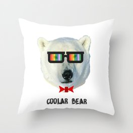 coolar bear Throw Pillow