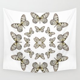 Rice Paper Butterfly Circle Wall Tapestry