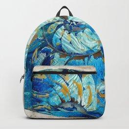 Tropical Blue Beach Art - Nautilus Shell Bleu 2 - Sharon Cummings Backpack