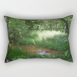 19154 Raw green Rectangular Pillow