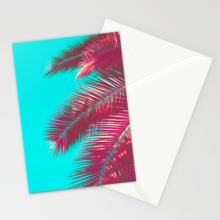 Neon Palm Stationery Cards