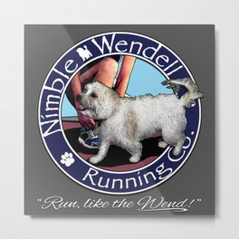 Nimble Wendell Running Co. (Painterly Logo) Metal Print