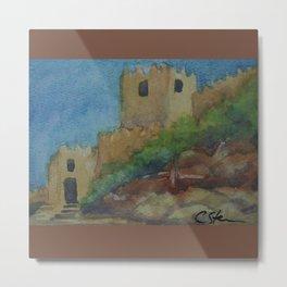 Alcazaba Entrance WC151209i-14 Metal Print