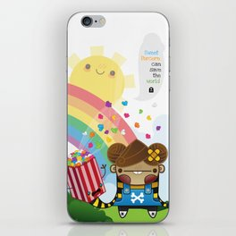 PopCorn can save the world iPhone Skin