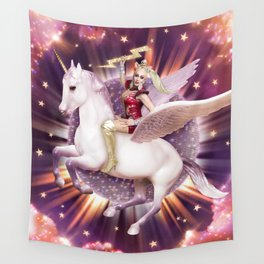 Andora: Drag Queen Riding a Unicorn Wall Tapestry