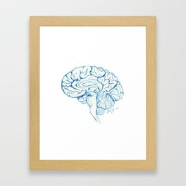 Brain in pencil Framed Art Print