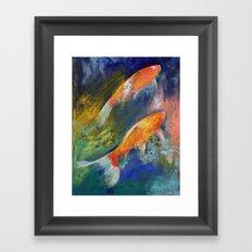 Two Koi Fish Framed Art Print
