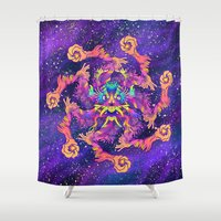 demon Shower Curtains featuring Star Demon by xzyolotl