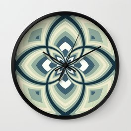 Spiral Rose Pattern E 2/4 Wall Clock