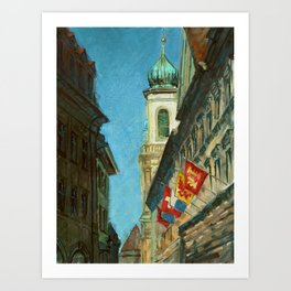 Lucerne Tower Art Print