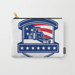 Brush Hogging Services USA Flag Badge Carry-All Pouch