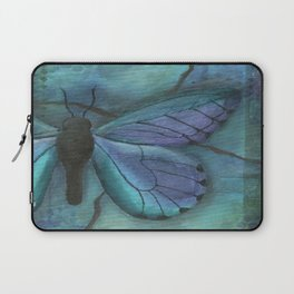 Mixed Media Butterfly in Blue by Kimberly Schulz Laptop Sleeve