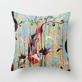 Koi Fish: Bringer Of Good Fortune Throw Pillow