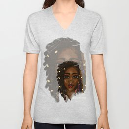 Loc'd and Living Large Unisex V-Neck