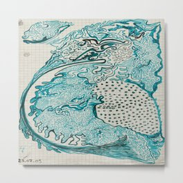 Terre turquoise Metal Print