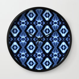 Bright Bue Diamond Pattern Wall Clock