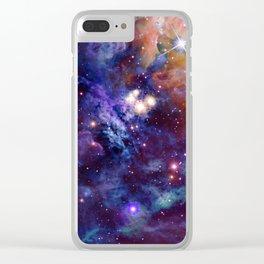 Bright nebula Clear iPhone Case