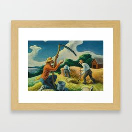 Classical Masterpiece 'Island Hay' by Thomas Hart Benton Framed Art Print