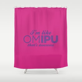 Oh My Invisible Pink Unicorn Shower Curtain