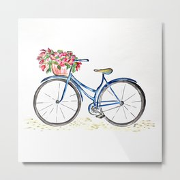 Spring bicycle Metal Print