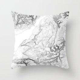 Severn Estuary Throw Pillow