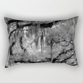 Oak and Moss in Black and White, Study 2 Rectangular Pillow
