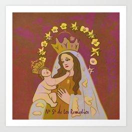 Virgen de Los Remedios Art Print