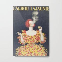 Vintage Poster Cachou Lajaunie Metal Print