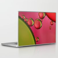 lime green Laptop & iPad Skins featuring Lime Green & Strawberry by Sharon Johnstone