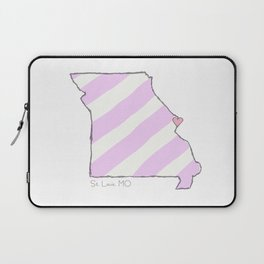 Home Is Where The Heart Is: St. Louis, MO Laptop Sleeve