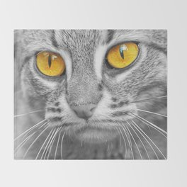 RUSTY SPOTTED CAT Throw Blanket