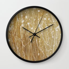 gold spring Wall Clock