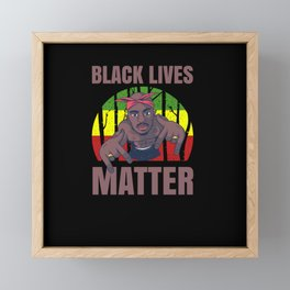 Black Lives Matter Stand For Human Rights Framed Mini Art Print