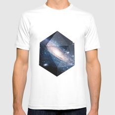 Cosmic Chance White MEDIUM Mens Fitted Tee