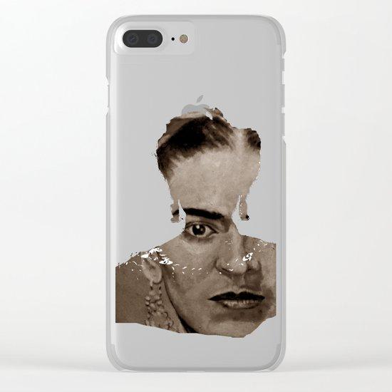 FRIDA - SHIRT version - sepia Clear iPhone Case
