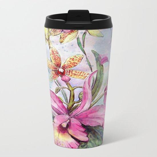Orchids 06 Metal Travel Mug