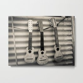 3 Lonely Guitars Metal Print