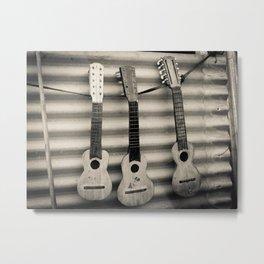 3 Lonely Guitars Metal Print