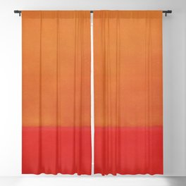 1954 Ochre Red on Red by Mark Rothko HD Blackout Curtain