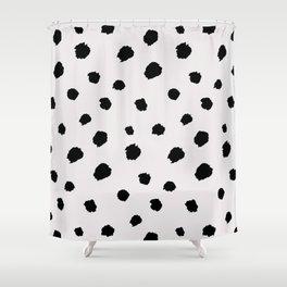black & very light gray /geometric series Shower Curtain