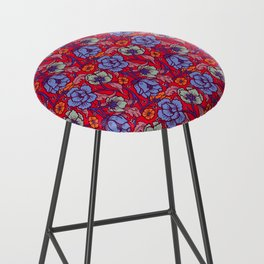 Red and blue Bar Stool