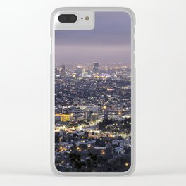 Los Angeles Nightscape No. 1 Clear iPhone Case