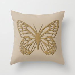 Cute Giant Gold Butterfly Throw Pillow