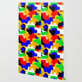 Cartoonish Wall of Colors Wallpaper