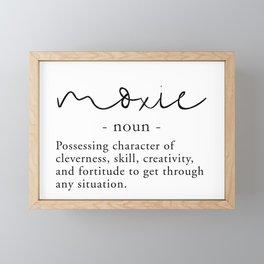 Moxie Definition - Minimalist Black Framed Mini Art Print