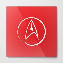Heathen Trekkie - StarTrek 's Uhura Red Metal Print
