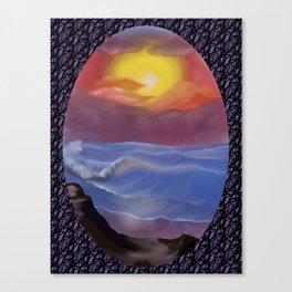 A Pastel Seascape Canvas Print